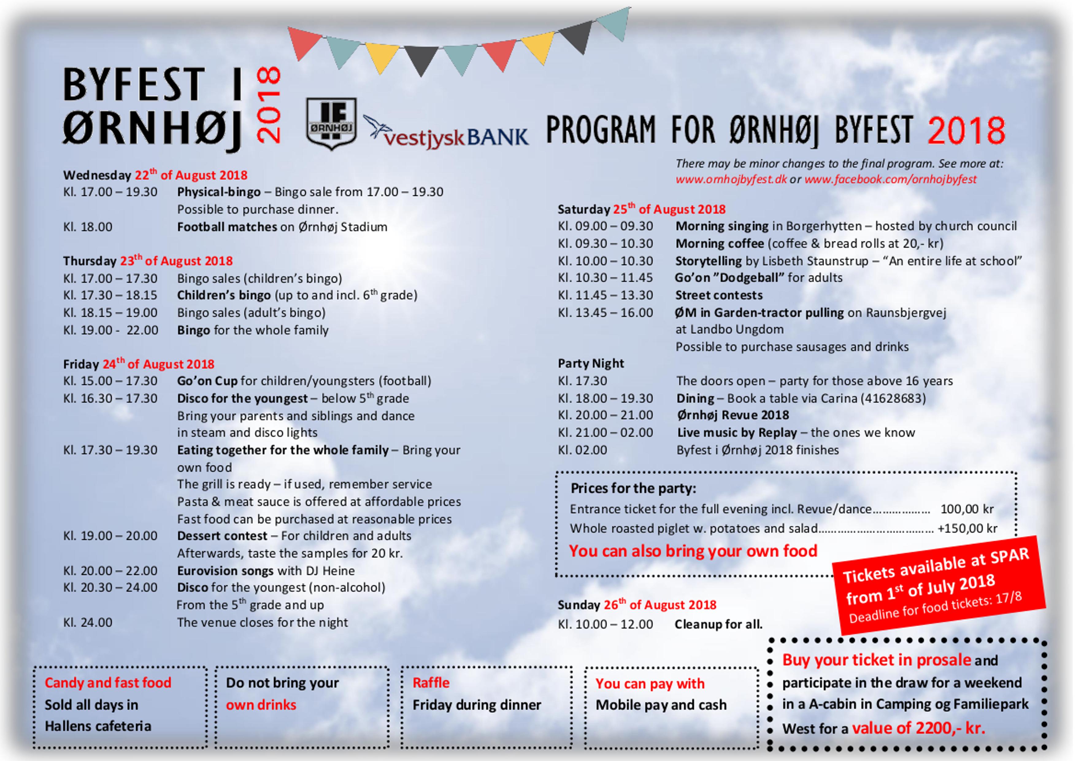 Byfest program 2018 engelsk